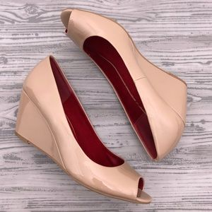 CL by Laundry Noreen Nude Wedge Pump Size 9